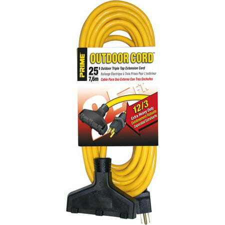Extension Cord 3 Conductor - Prime Extra Heavy Duty 25-Foot Outdoor Generator Extension Cord 3-Conductor