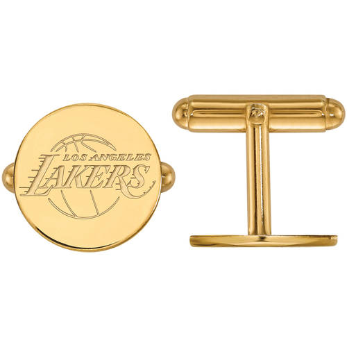 LogoArt NBA Los Angeles Lakers Sterling Silver with 14kt Gold Plating Cuff Links