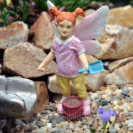Georgetown Home & Garden Miniature Fairy Garden Sand Pail Fairy Kid