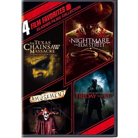 4 Film Favorites: Slasher Films Collection - The Texas Chainsaw Massacre (2003) / Nightmare On Elm Street (2010) / Amusement / Friday The 13th (2009)
