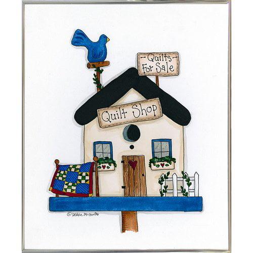 August Grove 'Quilt Shop Birdhouse' Print