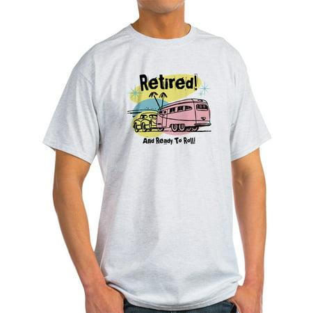 CafePress - Retro Trailer Retired - Light T-Shirt - CP