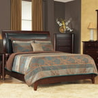 Modus Furniture City II Upholstered Low Profile Sleigh Bed in Coco-King