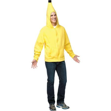 Banana Hoodie Men's Adult Halloween Costume