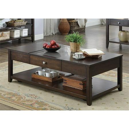 Furniture Of America Hampton Modern Lift Top Coffee Table In Espresso
