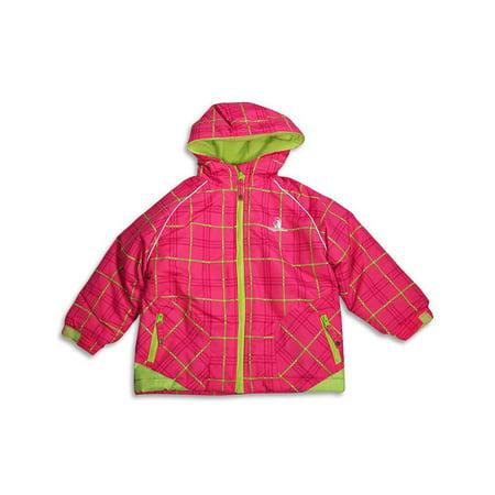 Rugged Bear - Little Girls Plaid Hooded Winter Jacket Pink Plaid / (Best Rugged Bear Rugged Bear Outdoor Jackets)