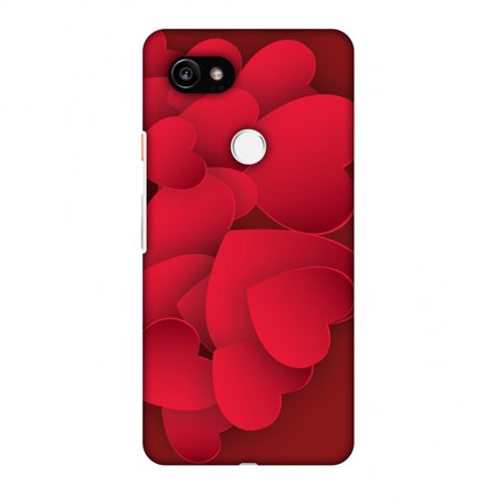 online store 3e419 83ee9 Google Pixel 2 XL Case, Premium Handcrafted Printed Designer Hard Snap On  Case Back Cover with Screen Cleaning Kit for Google Pixel 2 XL - Red Hearts