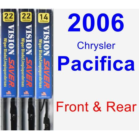 2006 Chrysler Pacifica Wiper Blade Set/Kit (Front & Rear) (3 Blades) - Vision Saver 2006 Chrysler Pacifica Replacement