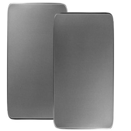 Calypso Basics, Tin Rectangular Burner Cover Set of 2, Stainless Steel