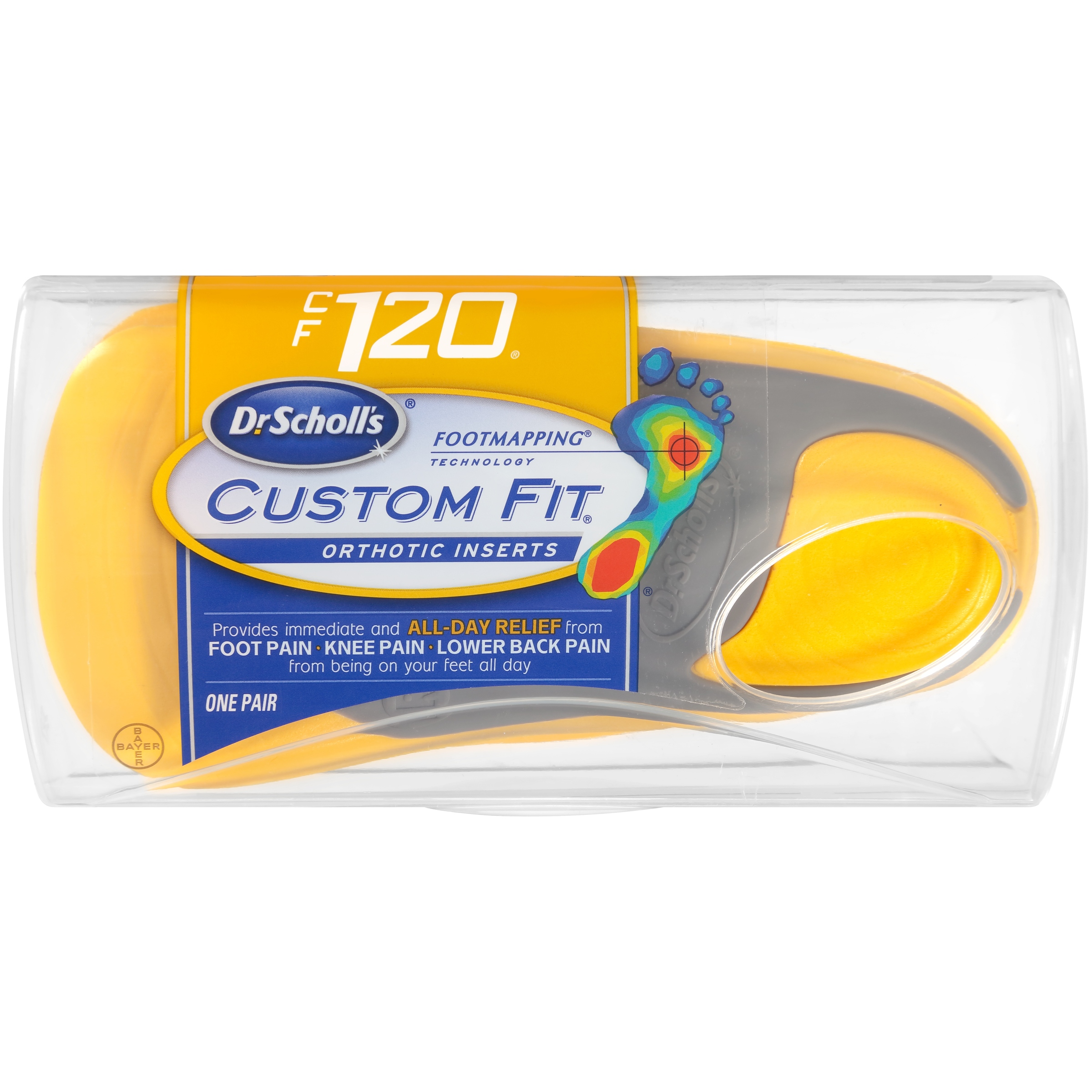 Dr. Scholl's® Custom Fit® Orthotic Inserts CF120, 1 Pair