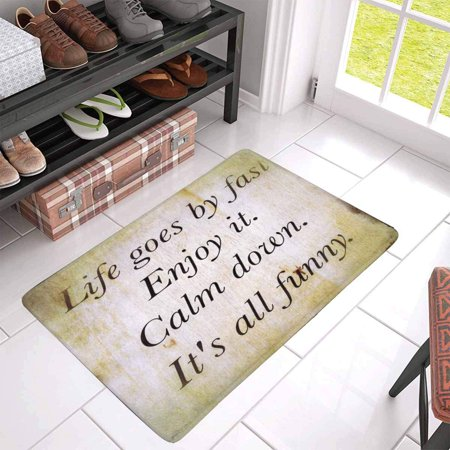 POP Inspirational Motivating Quotation with Special Filter Door Mat Home Decor Indoor Entrance Doormat 30x18 Inches - image 2 of 3
