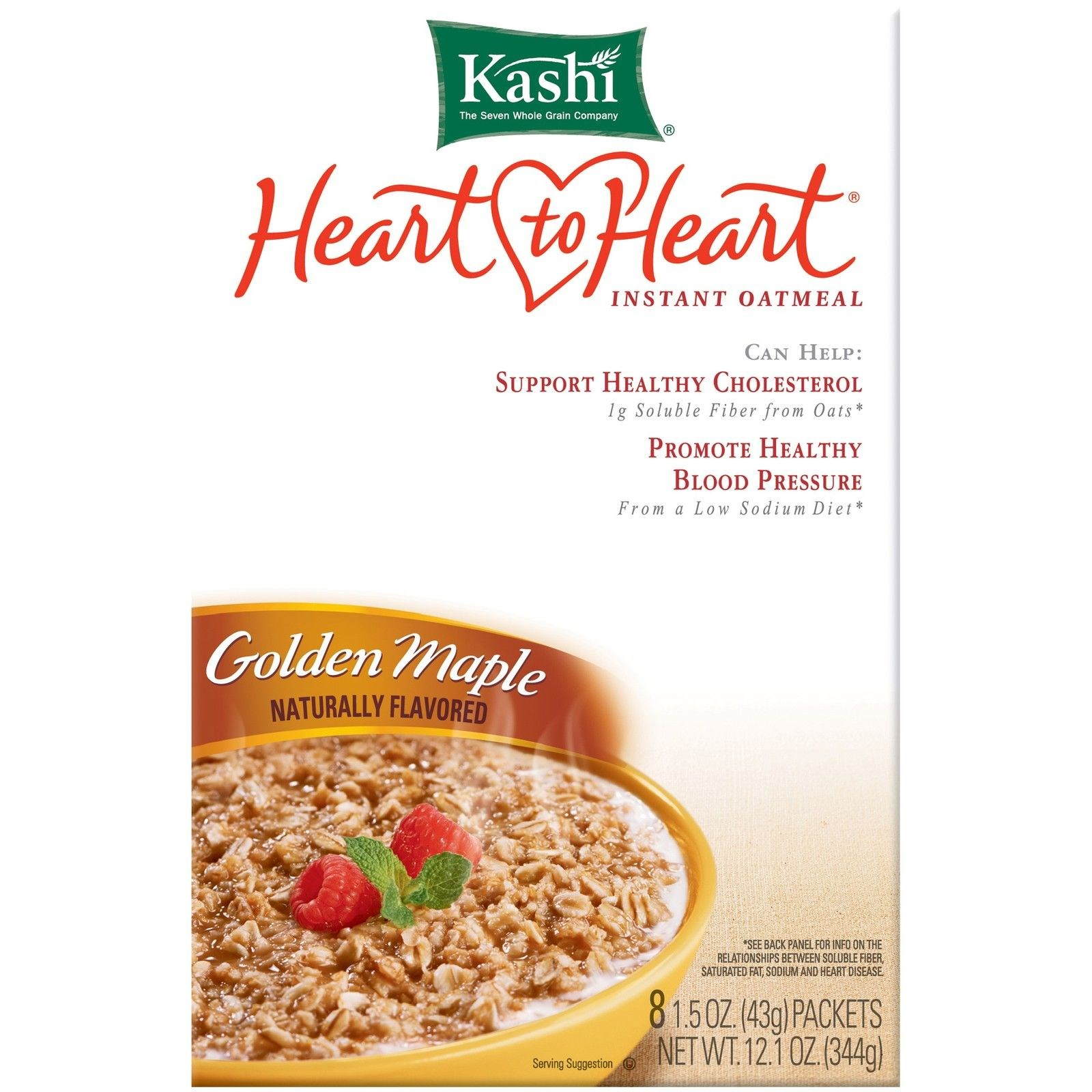 Kashi Brown Maple Instant Oatmeal, 12.1 OZ (Pack of 6)