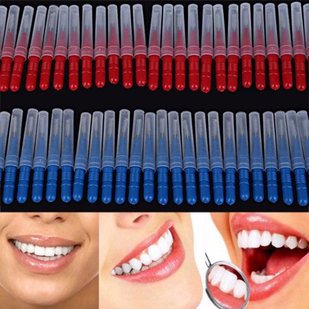 Mosunx 50 pcs Tooth Floss Oral Hygiene Interdental Brush Toothpick Healthy Teeth Care
