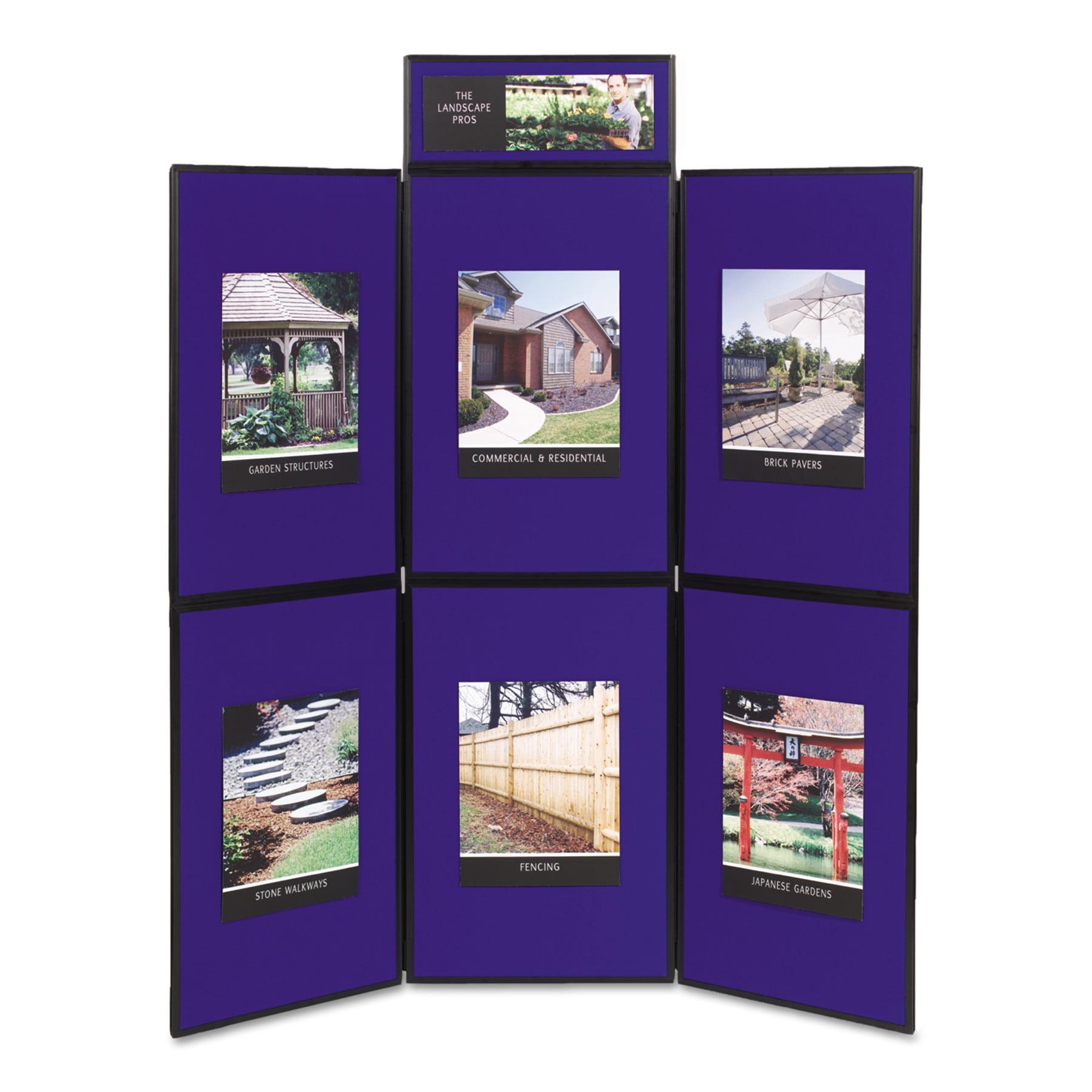 Quartet Show-It! Display System, 72 x 72, Blue/Gray Surface, Black Frame