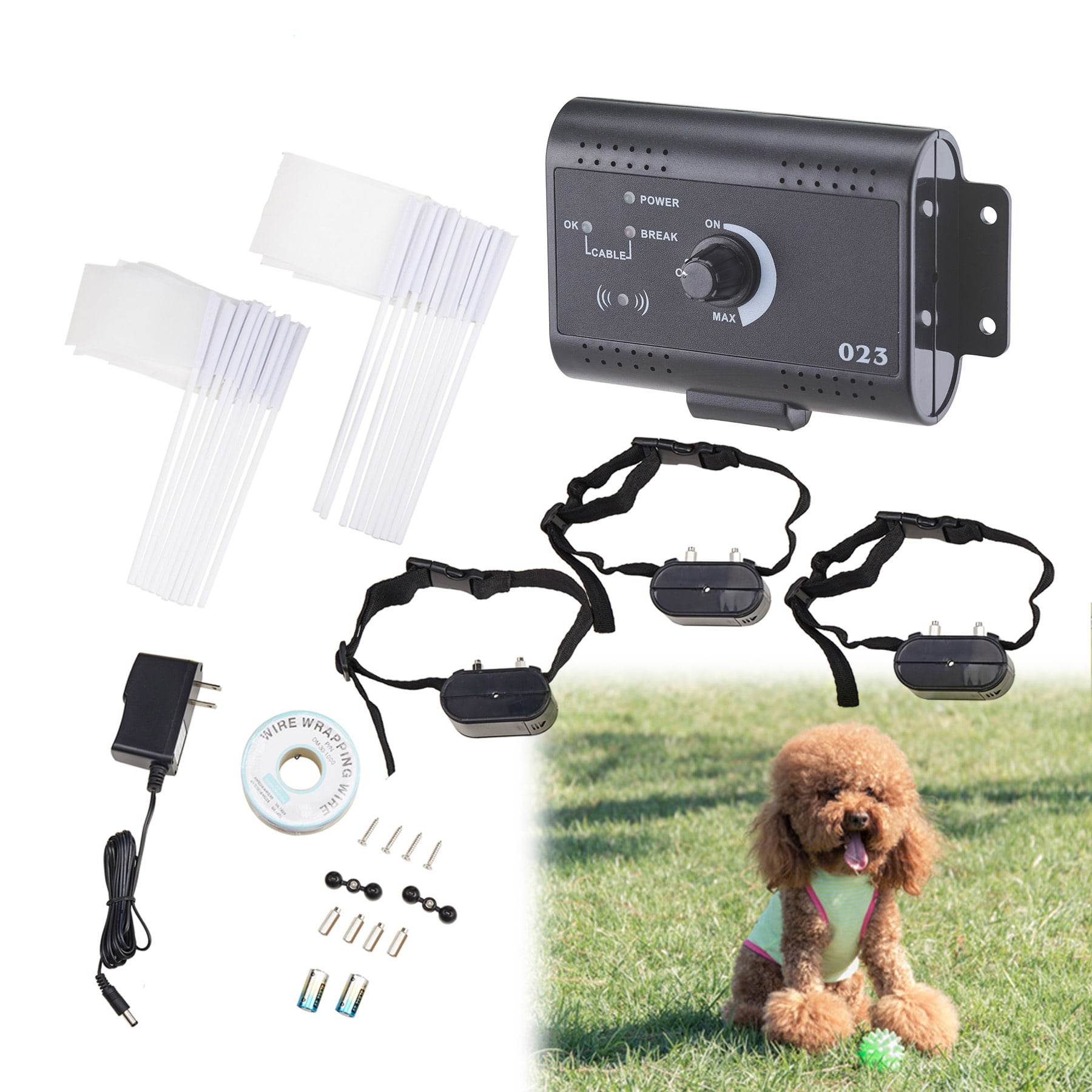 2 OR 3 Dogs Underground Electric Dog Fence Waterproof Shock Collars by CO-Z