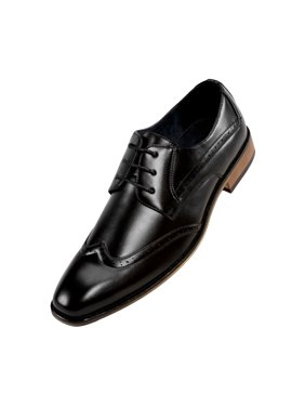 Product Image Amali Smooth Burnished Wing Tip Blucher Oxford Dress Shoe  Style Drax Available in Black eb6d1cc3a9c