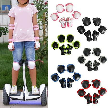 Kids Knee Pads and Elbow Pads with Wrist Guards Protective Gear Set for Skating Rollerblading Skateboard BMX Scooter Cycling Pink (Rollerblading Accessories)