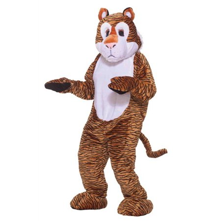 Tiger Mascot Adult Halloween Costume, Size: Men's - One Size