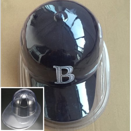1Pc Plastic Clear Baseball Football Cap Dustproof Hat Display Case Holder Protector