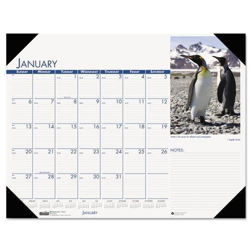 House of Doolittle Beautiful Wildlife Photographic Monthly Desk Pad Calendar, 22 x 17, 2013
