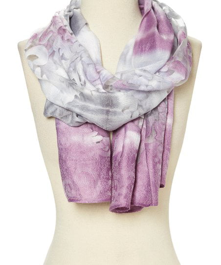 Pink Floral Scarf Neck Scarves Women Ladies Gifts Birthday Presents Winter