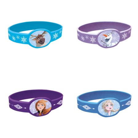Frozen Characters For Party (Disney Frozen 2 Rubber Bracelet Party Favors,)