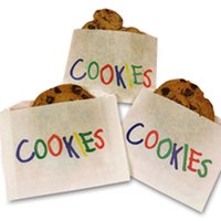 """5-1/2"""" X 1 X 4 Printed Cookie Bags 