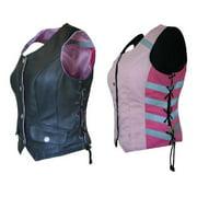 Women's G2 D.O.C. Reversible Leather Safety Vest Hi-Viz Pink - Small G2RVWP
