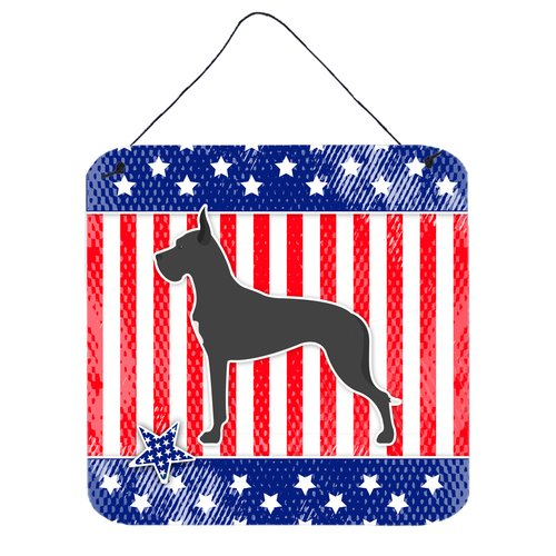The Holiday Aisle Patriotic Great Dane Wall D cor