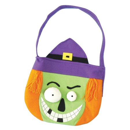 Monster Trick or Treat Hand Bag Witch Candy Halloween Costume Accessory](Halloween Trick Or Treat Bag Pattern)