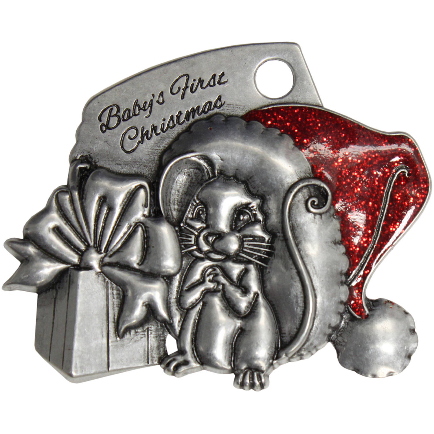 Pewter Baby Mouse Ornament