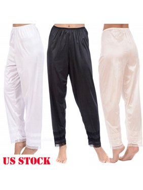 Women Slip Liner Ladies Girl Nightwear Pyjamas Bottoms Lounge Pants Trousers