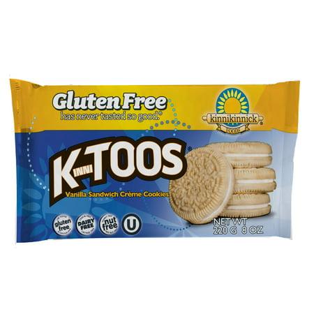 Kinnikinnick Foods KinniToos Vanilla Sandwich Creme Cookies, 8.0 OZ