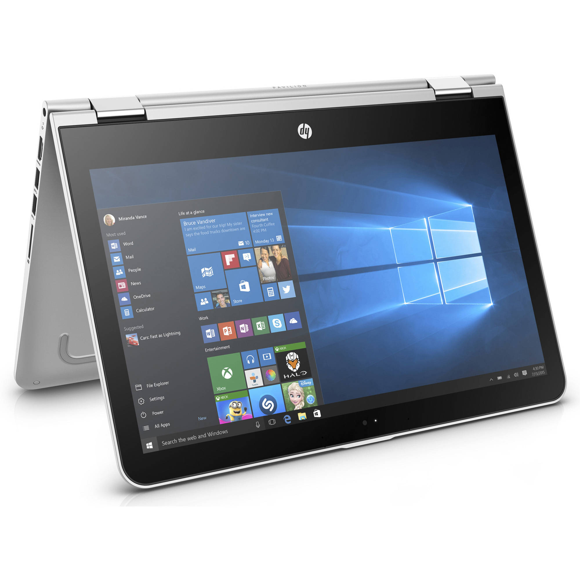 "HP Pavilion X360 13-U163Nr 13.3"" Laptop, 2-in-1, Touchscreen, Windows 10 Home, Intel Core i5-7200U Dual-Core Processor, 8GB RAM, 1TB Hard Drive"