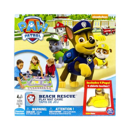 Paw Patrol Beach Rescue Play Mat Game - Beach Game Ideas