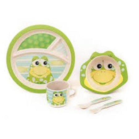 Nautical Themed Dinnerware Sets (Baby  Cute Frog Theme Bamboo Kids Meal)