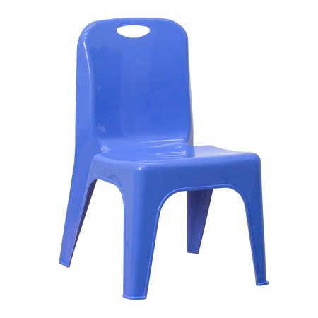 Preschool Plastic Chairs - Flash Furniture Plastic Stackable School Chair with Carrying Handle and 11'' Seat Height