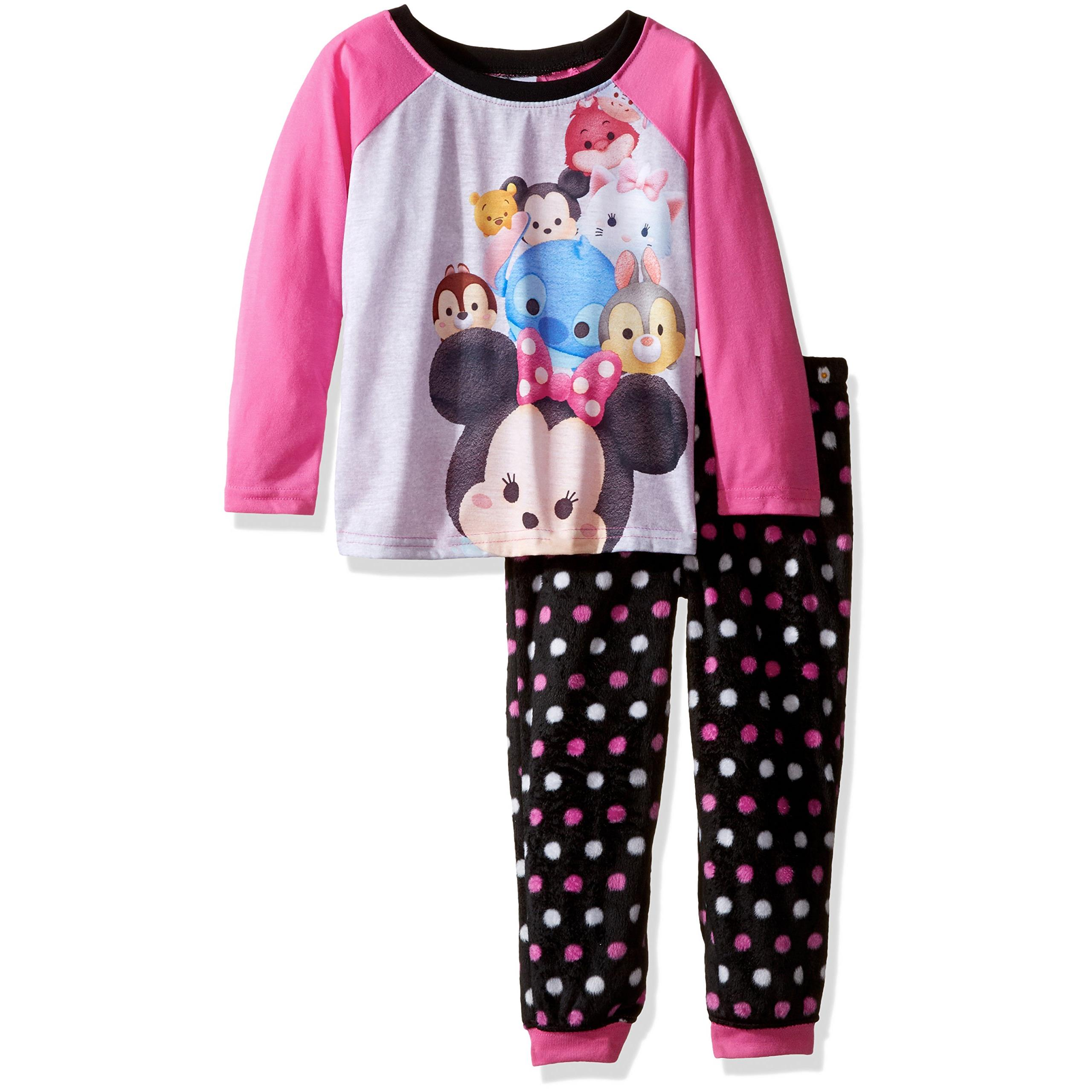 Disney Girls' Tsum Tsum 2-Piece Pajama Jogger Set