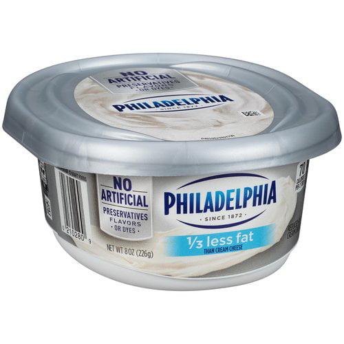 Kraft Philadelphia 1/3 Less Fat Cream Cheese Spread, 8 oz