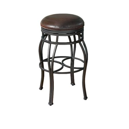 American Heritage Billiards Bella Backless Counter Stool 26 Tall Metal Frame