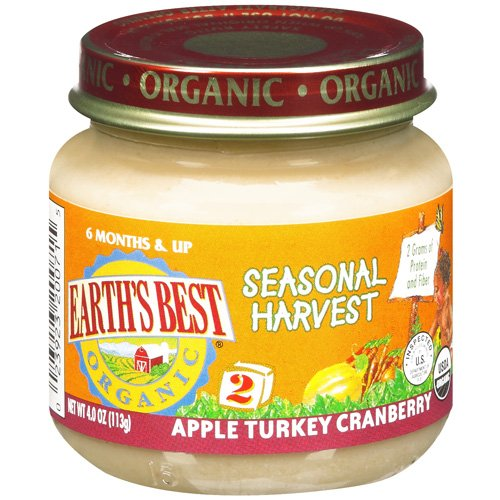 Earth's Best Organic Apple Turkey Cranberry Seasonal Harvest, 4 oz