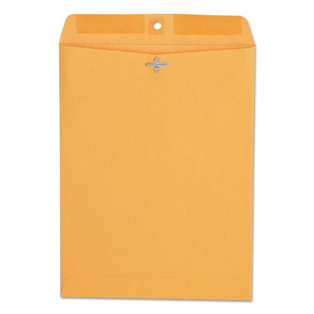 Office Impressions Kraft Clasp Envelopes, 9 x 12, 28lb, Brown Kraft, 100/Box