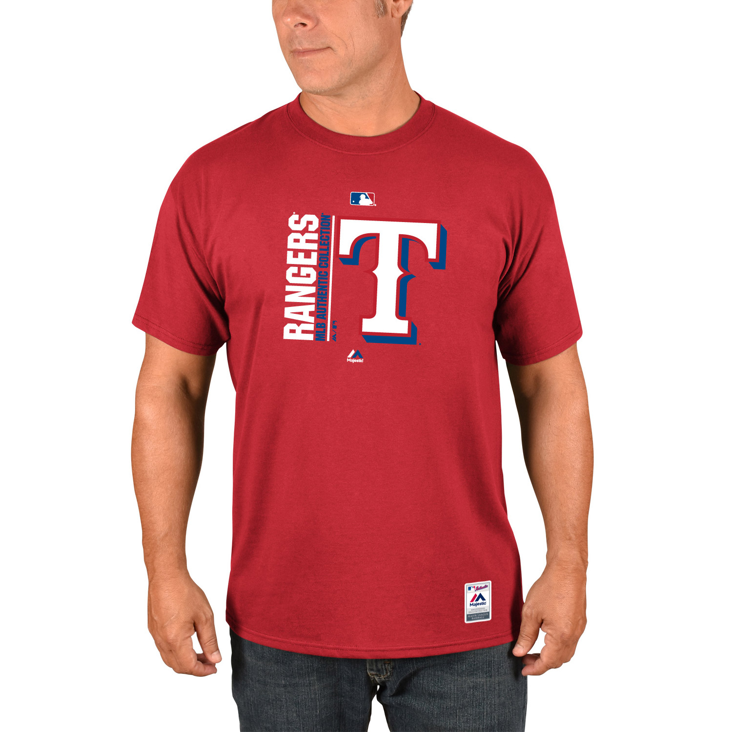 Texas Rangers Majestic Authentic Collection Team Icon T-Shirt - Red