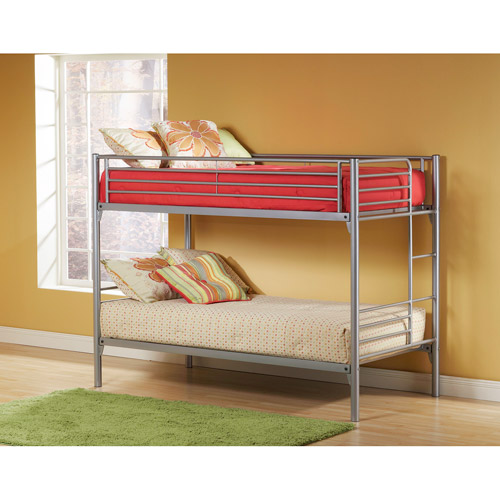 Hillsdale Furniture LLC Universal Twin Over Twin Bunk Bed, Silver