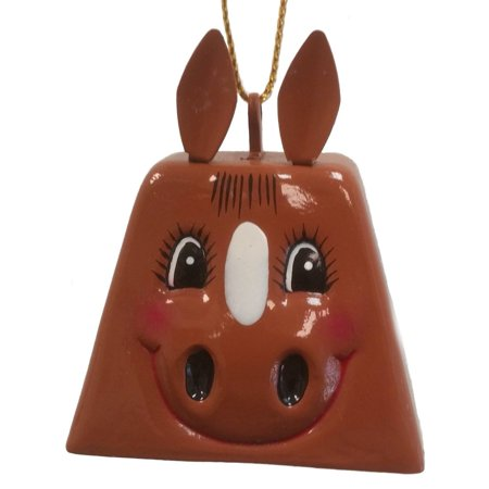 Belsnickel Giggle Lings Harvey the Horse Brown Metal Cowbell Christmas (Belsnickel Gift)