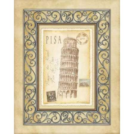 24 Art Postcards - Pisa Postcard Canvas Art - Andrea Laliberte (24 x 30)