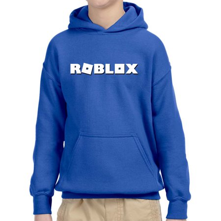 New Way 923 - Youth Hoodie Roblox Logo Game Accent Unisex Pullover Sweatshirt XL Royal (Light Pink Youth Hoodie)