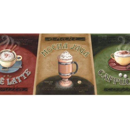 879373 Coffee Cafe Latte Wallpaper Border