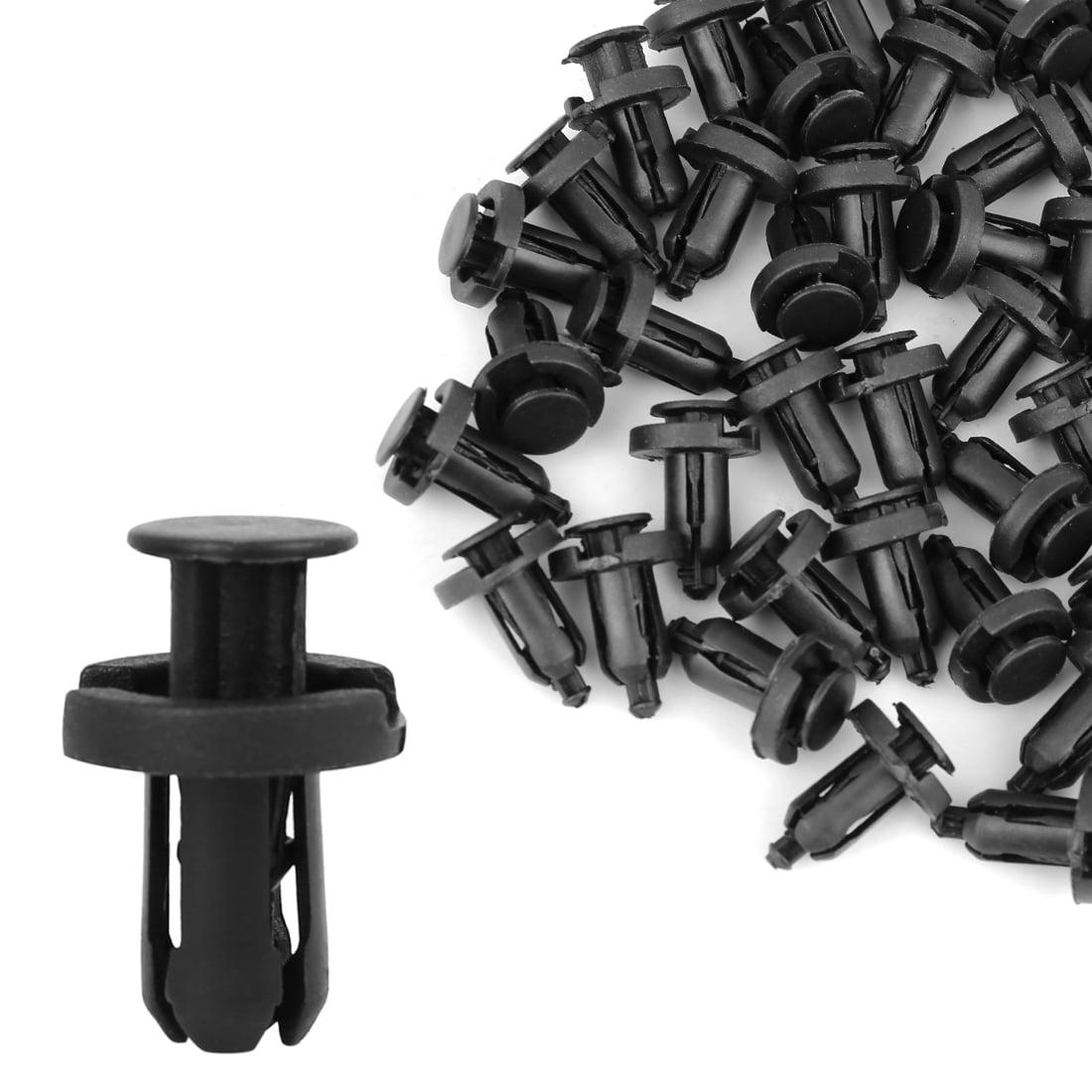 30 Pcs Black Car Fender Push in Plastic Rivets Fastener 18mm x 10mm x 8mm