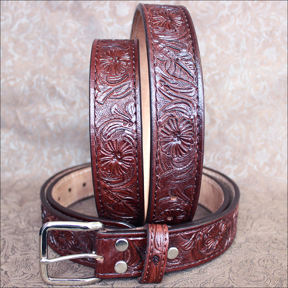 "30"" HILASON HAND MADE HEAVY DUTY BUFFALO HIDE LEATHER STICHED BELT"
